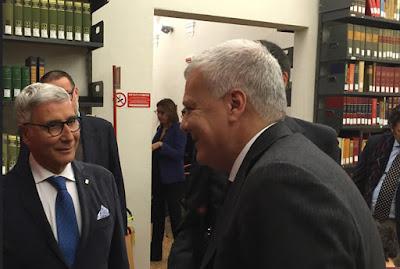 Antonio Fago e il Ministro per l'Ambiente Gian Luca Galletti