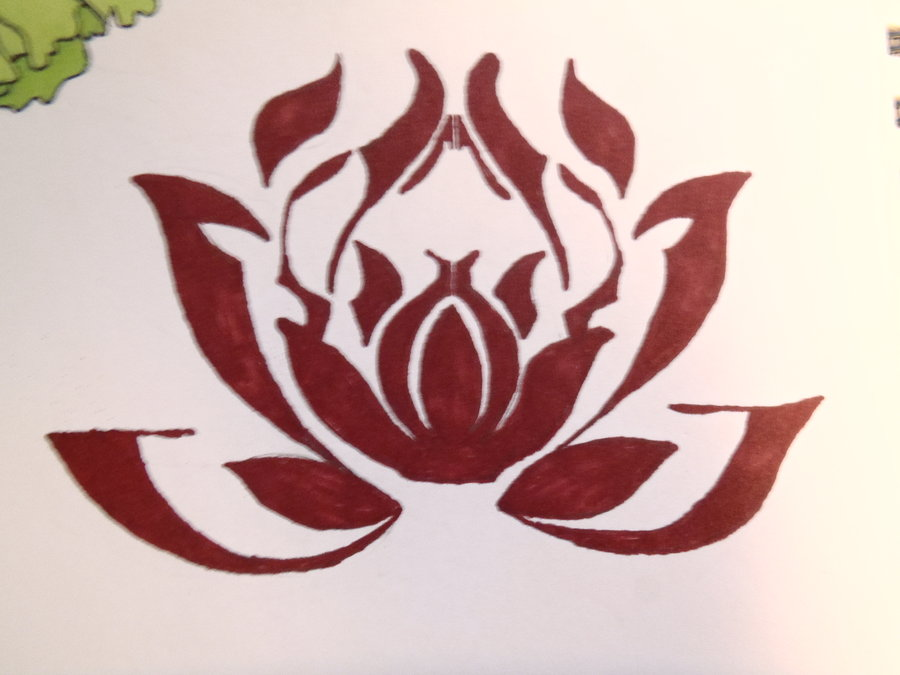 Red Lotus Flower Meaning Tribal Lotus Flower Tattoos