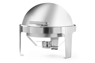 Chafing Dish Rotund cu Capac Roll-Top