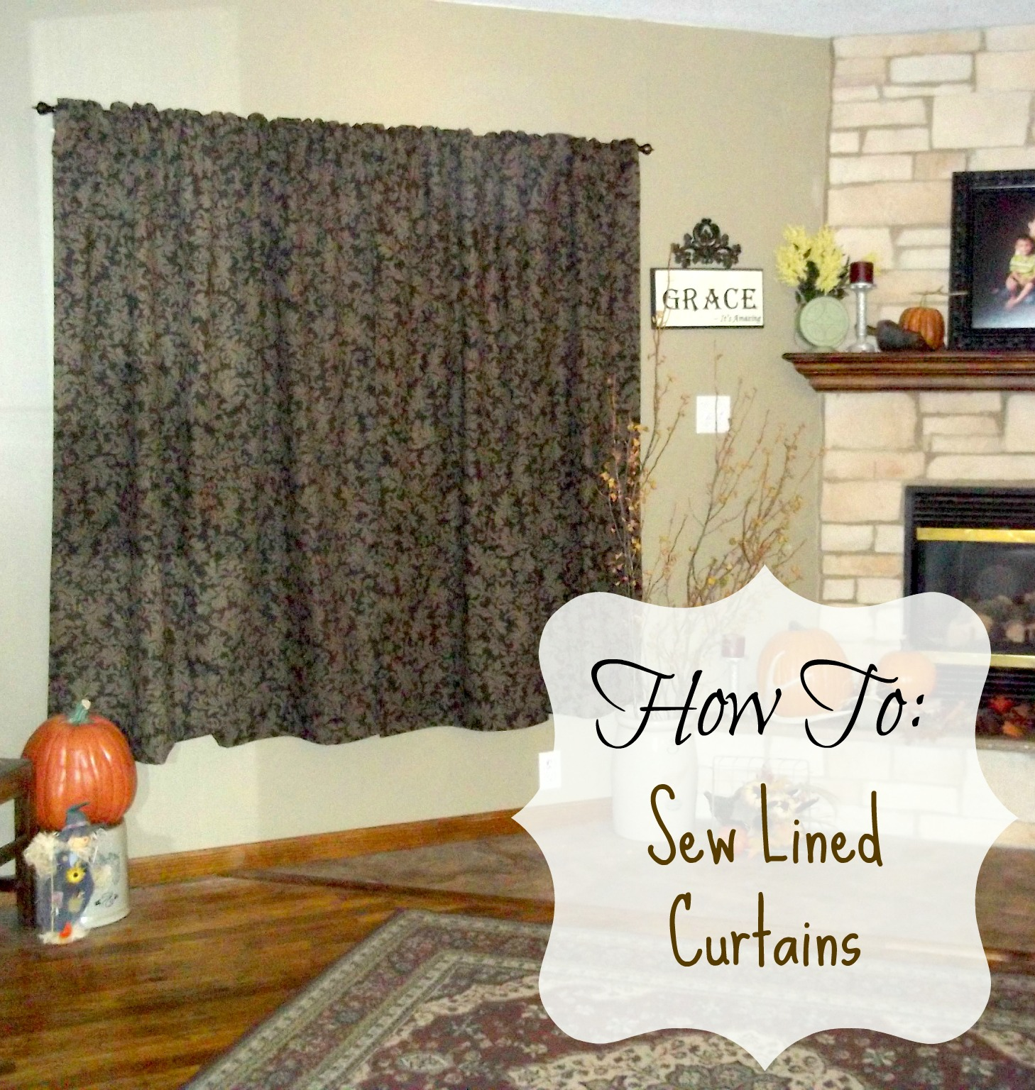 How to make rod pocket curtains - Sewing Lined Curtains