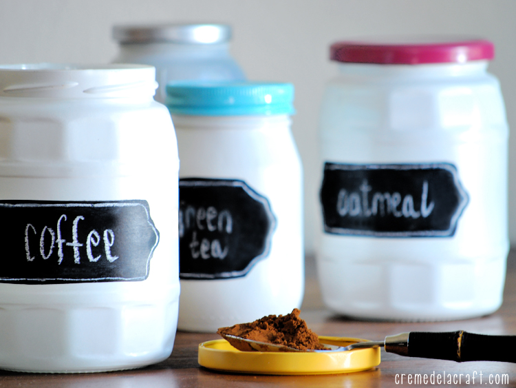 diy chalkboard label jars