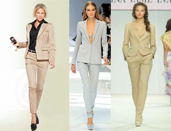 Модные Женские Брючные Костюмы