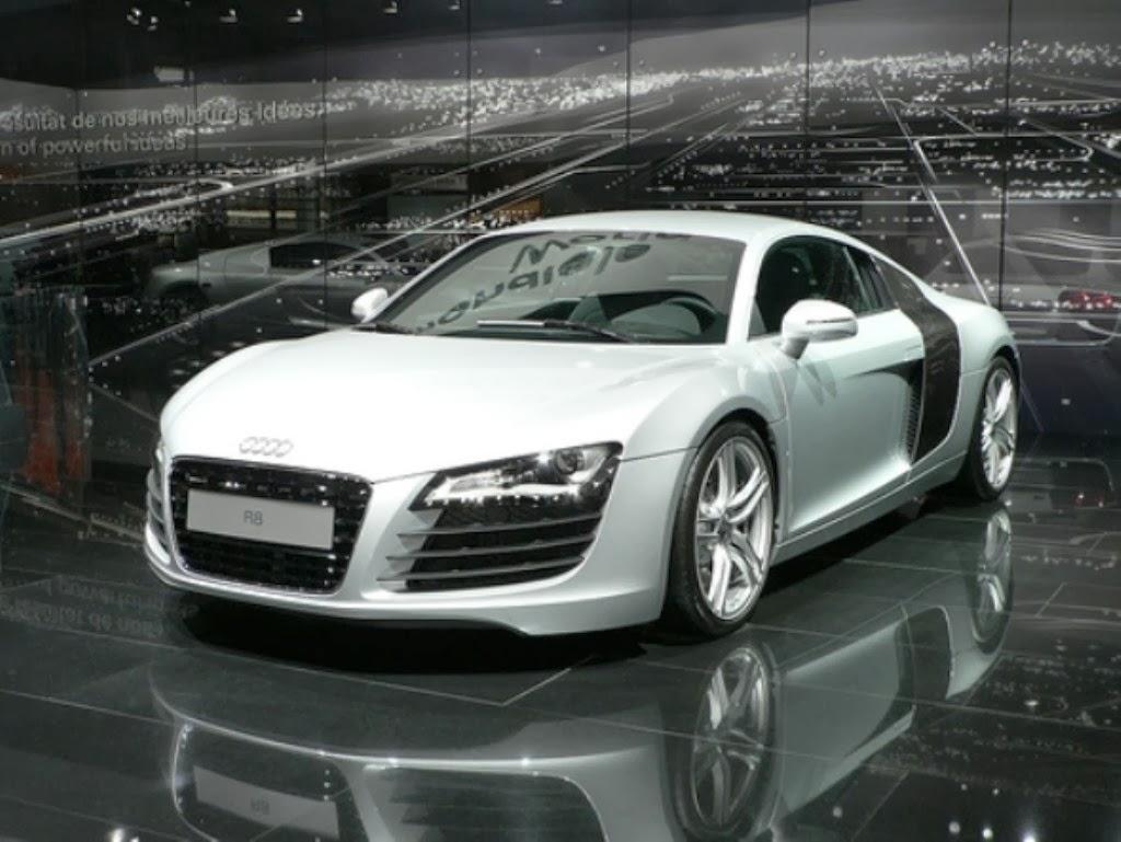 Download Audi R8 Spyder White Car High Resolution Big size Wallpaper ...