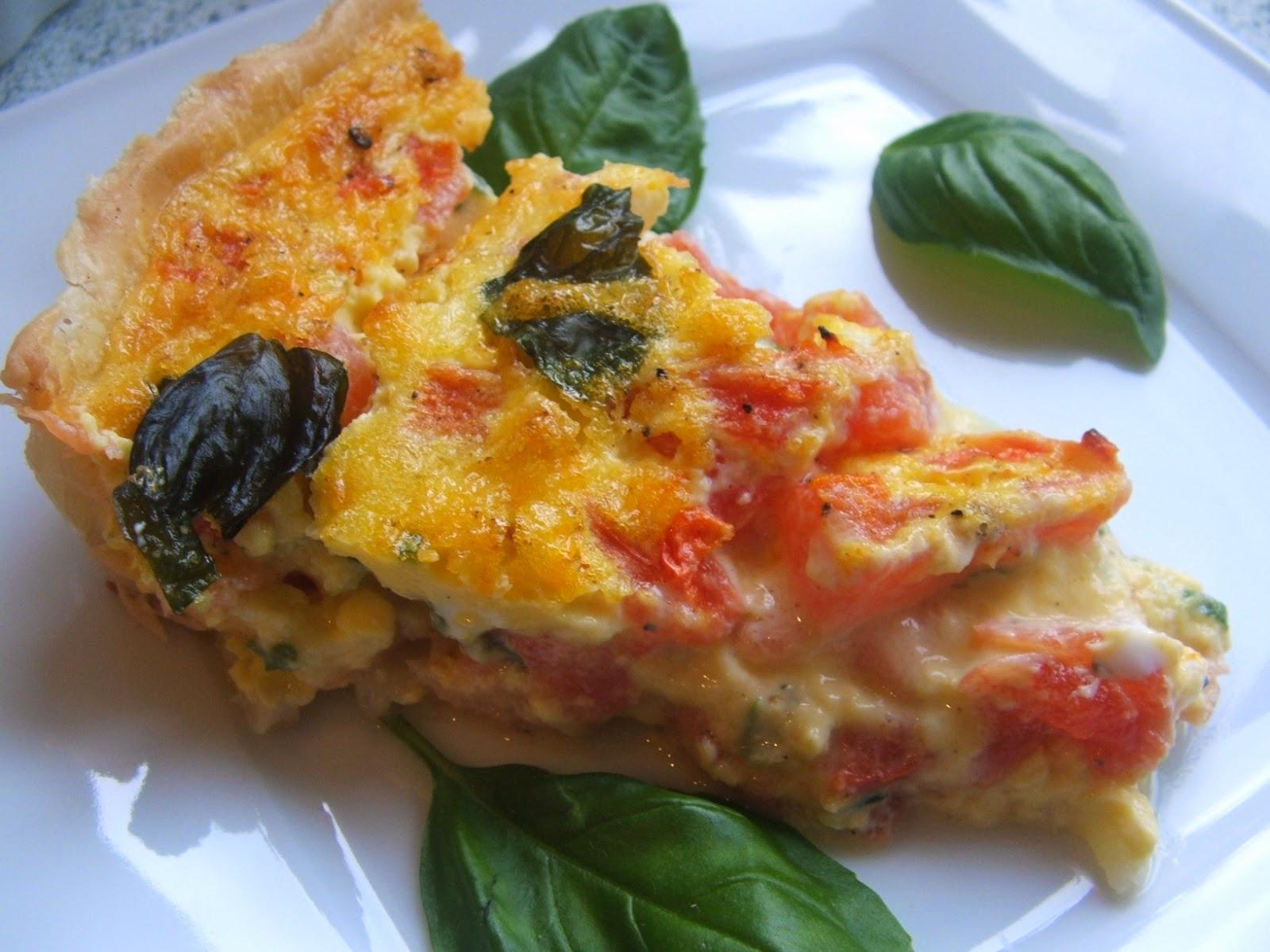 Tarta Z łososiem Mozarellą I Pomidorami Mama W Kuchni