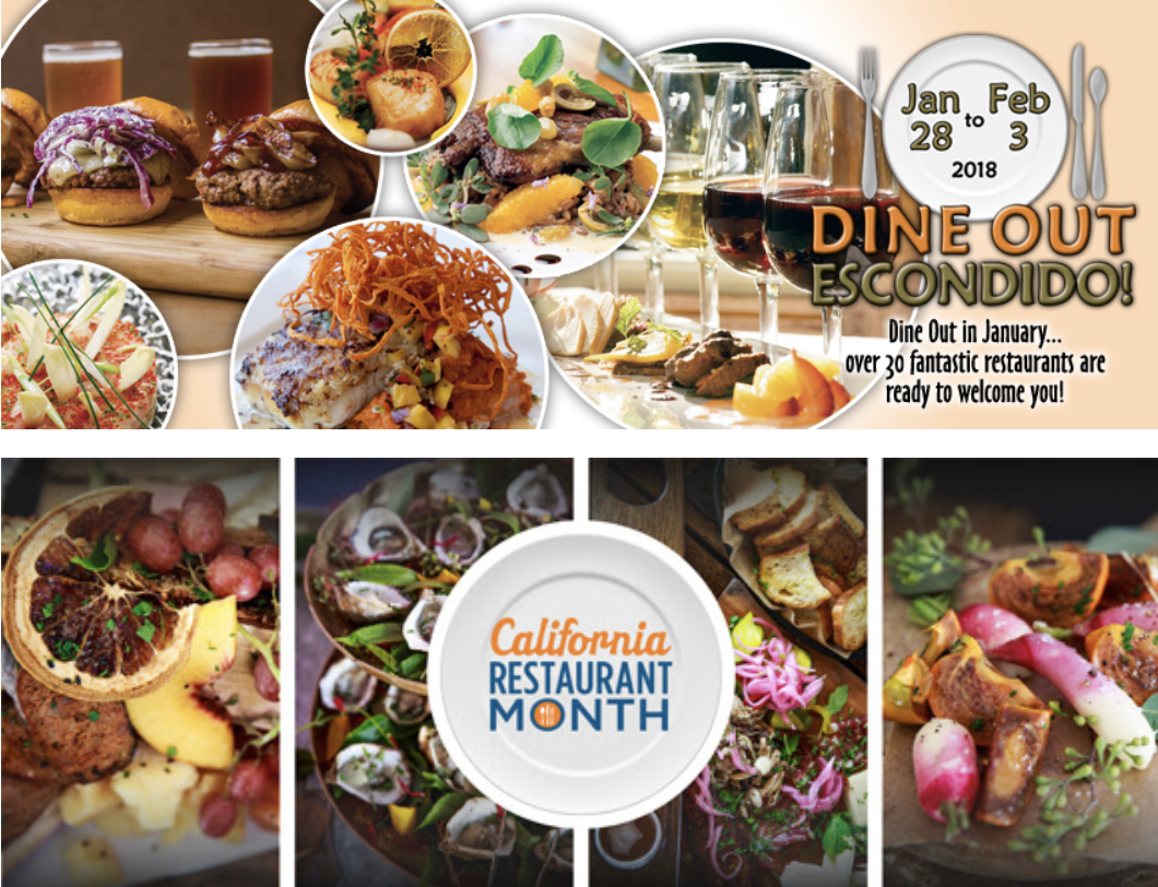 Dine Out! Escondido Returns January 28 - February 3!