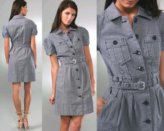 Modelo de vestido jeans evangélico com cinto - dicas e fotos