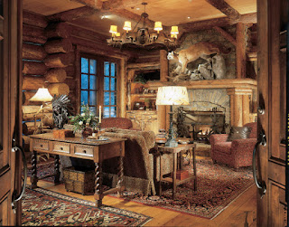 Awesome Rustic Living Room with the Rustic Fireplace Mantels and Iron Chandelier on the Wooden Ceiling