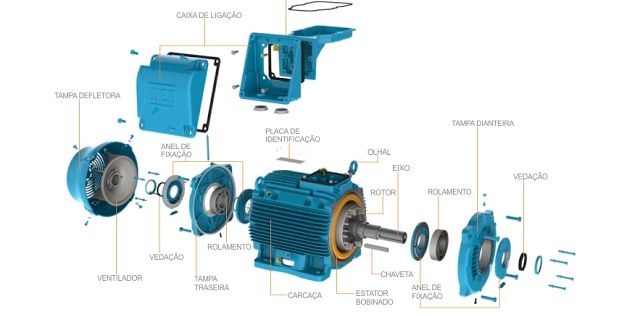 3 Phase Induction Motor Parts Electrical Engineering World