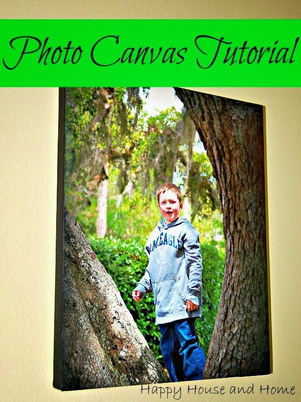photo canvas tutorial, DIY photo canvas