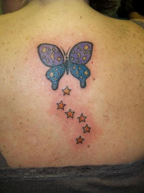 stars and butterfly tattoos for women find a tattoo blog. Black Bedroom Furniture Sets. Home Design Ideas