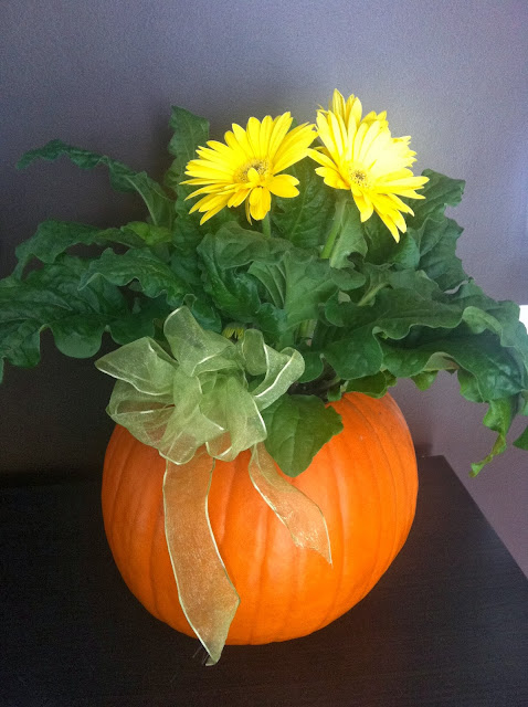 Thanksgiving Pumpkin Flower Center Piece