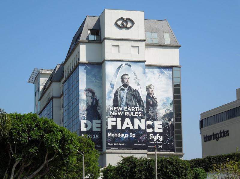 Giant Defiance TV billboard
