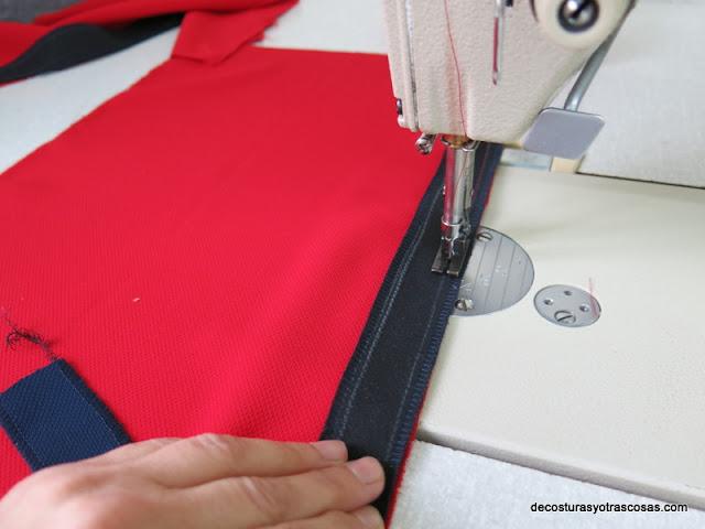 coser tiras de adorno contraste
