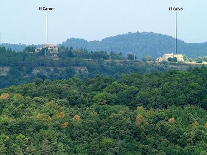 Les masies del Carner i el Caubó, ambdues pertanyen actualment al municipi de Granera, però antigament eren de Castellterçol