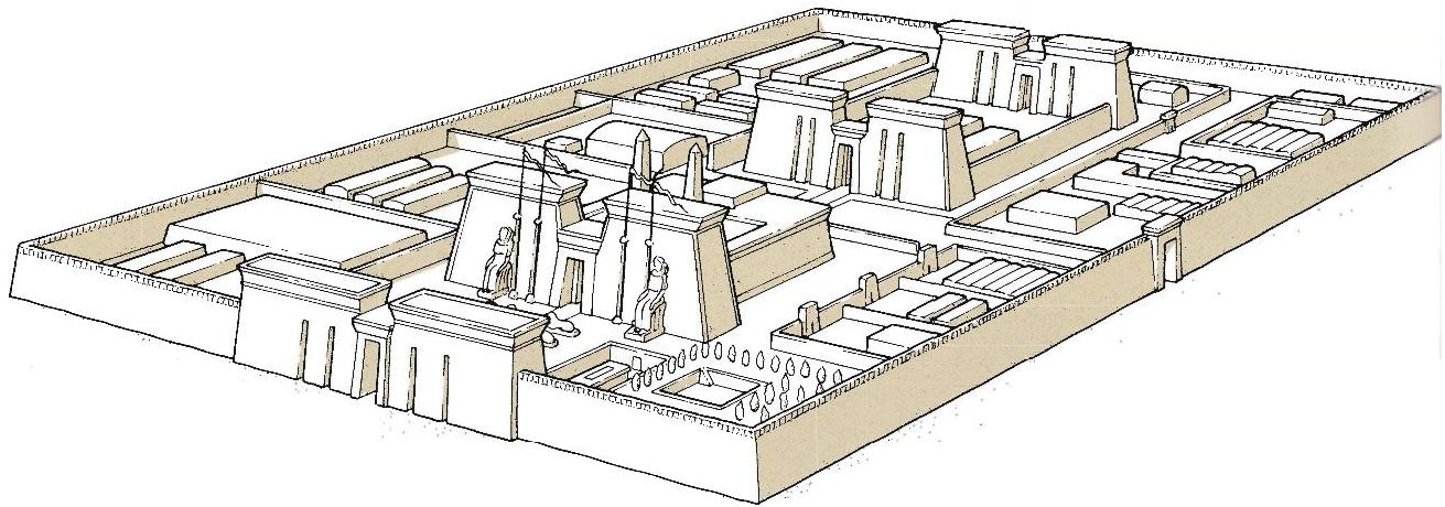 Ancient egyptian temples page 26 a glorious decline of the ancient a reconstruction of the great temple of sais sa el hagar in the northeastern delta of which very little remains sais was the seat of rulers of the 24th ccuart Choice Image
