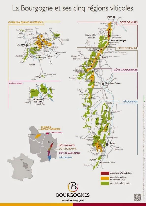 Mapa Bourgogne