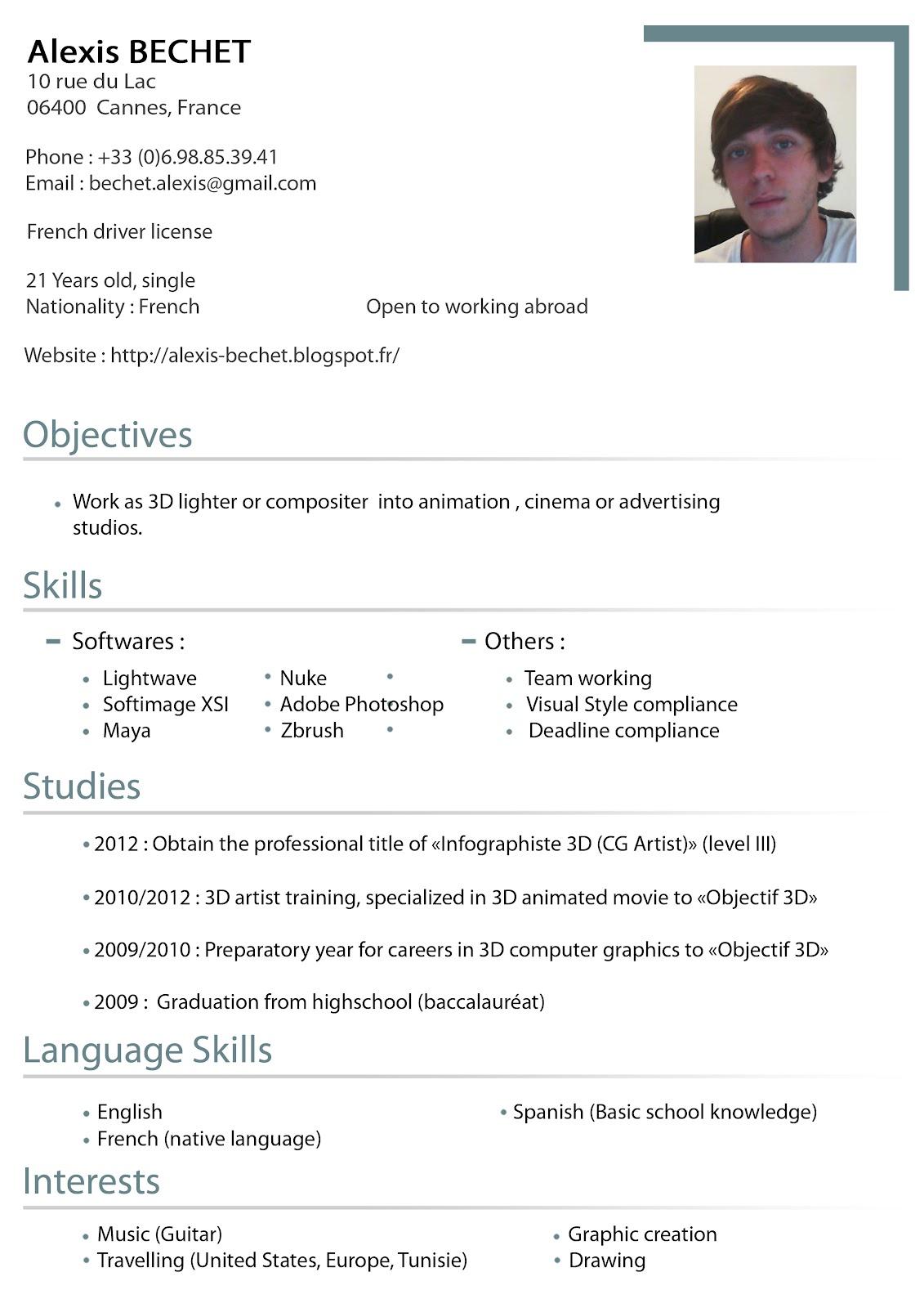 Resume In British English