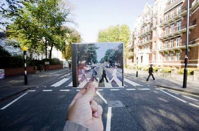 Foto Ilusi The Beatles, foto ilusi, kumpulan foto ilusi