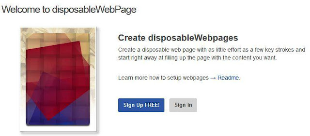 create a temporary web page that self-destruct.
