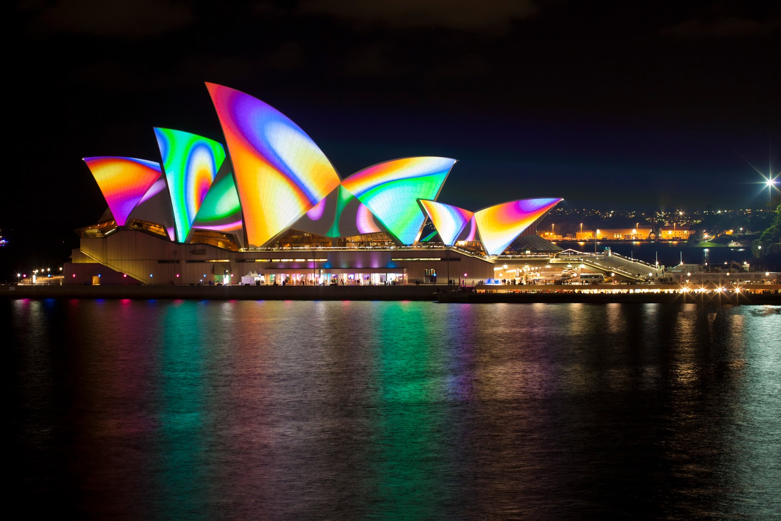 Australian Opera House Lit Up for VIVID Sydney Festival, 2012