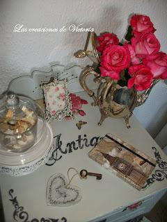 Las creaciones de Victoria. Decoupage en muebles. Restauración de mesita de noche