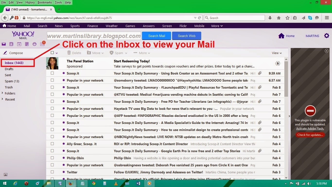 how to delete all inbox in yahoo mail