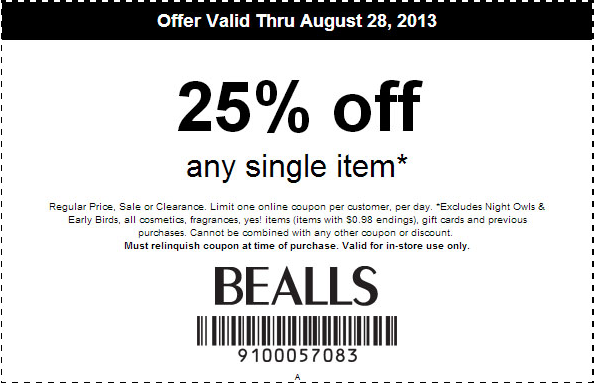 Bealls shoes coupons