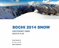 Sochi is storing snow for next year's Winter Olympics