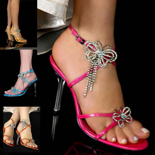 Brilliant  Inch High Heel Womens Shoes Clear Platform Stiletto Sandals Sexy Shoes