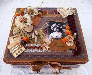Caixa decorada Vintage