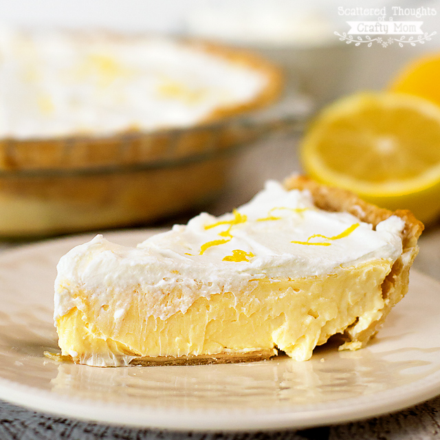 Lemon Cheesecake Pie | Scattered Thoughts of a Crafty Mom
