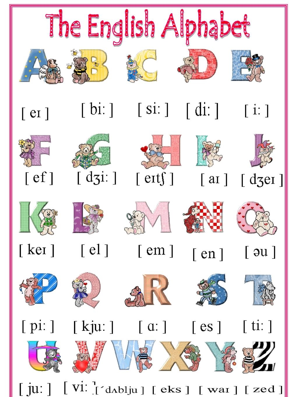 ENGLISH TIME: THE ALPHABET
