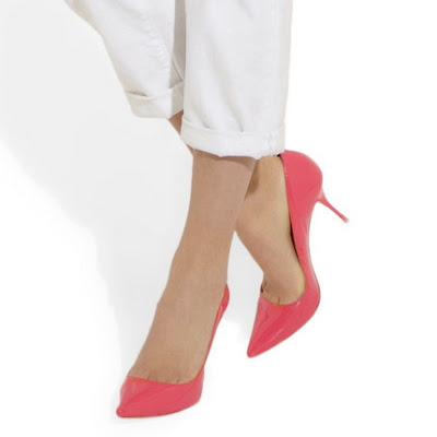 bright pink-stiletto heels-pointed toe pumps