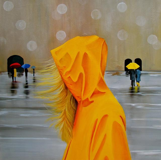 Tina  Palmer  Yellow  Rain  Jacket
