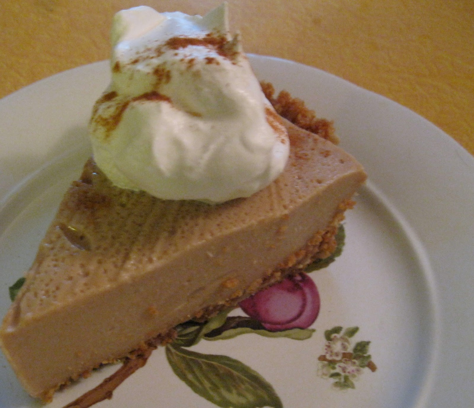 thankful for serving utensils (Cinnamon-Butterscotch Pudding Pie