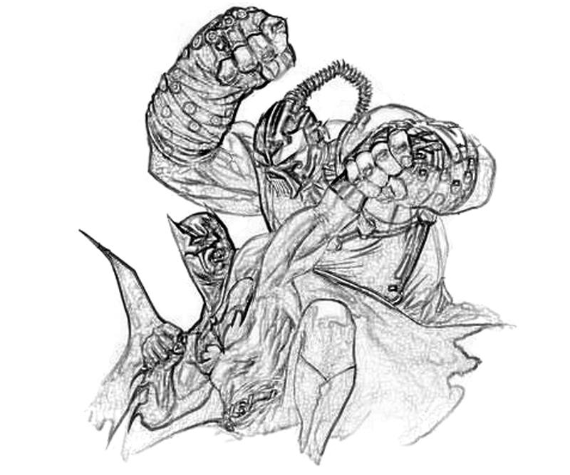 bane from batman coloring pages - photo#23