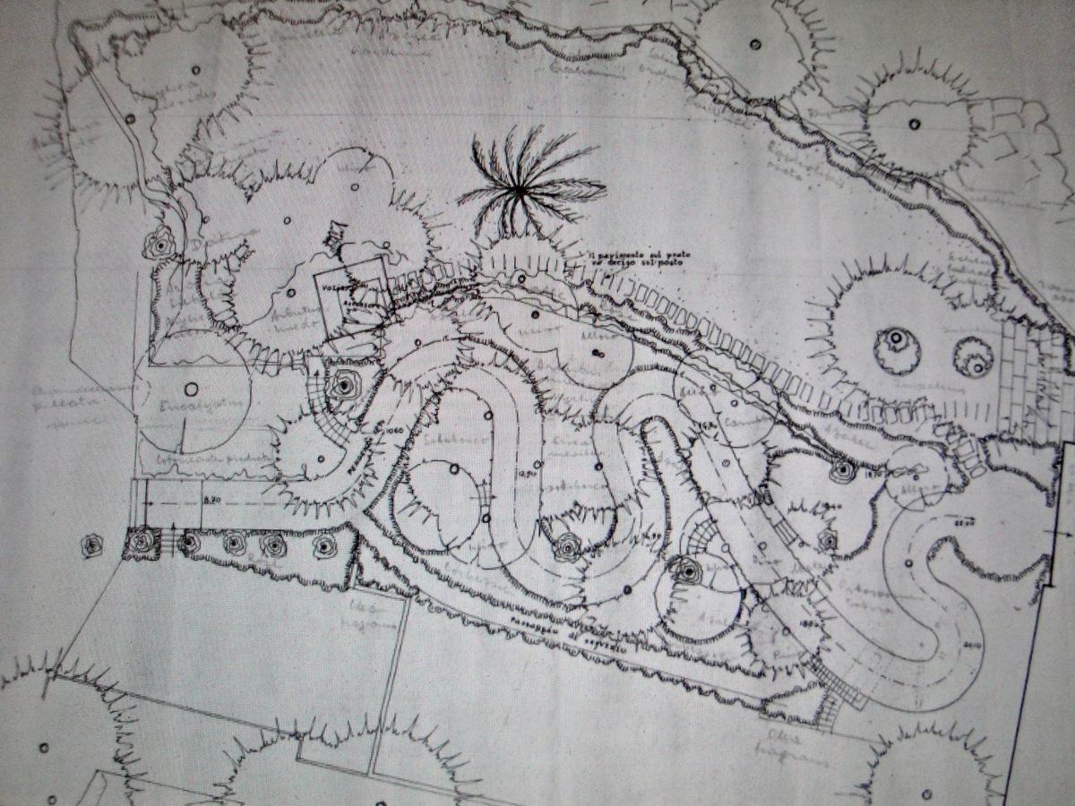 L 39 uomo e il paesaggio castello di paraggi santa for Pietro porcinai