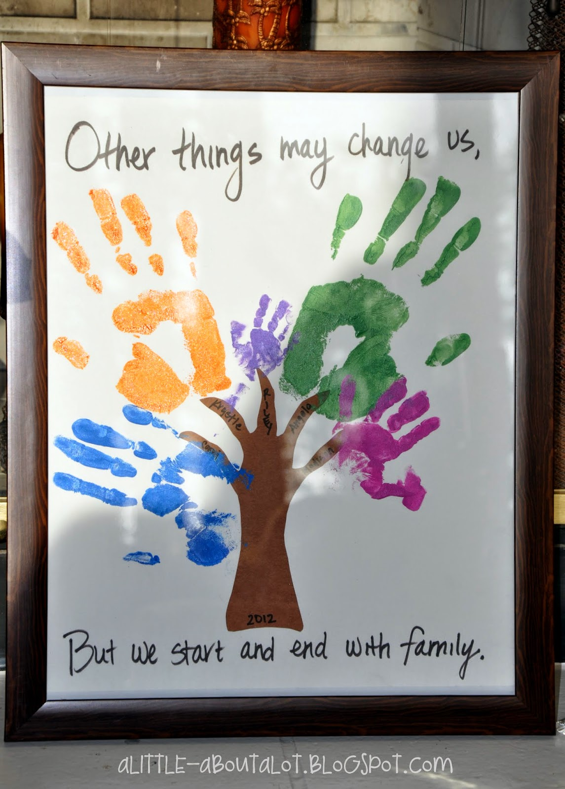 Family Hand Tree | Mother's Day Gift | A little about a Lot