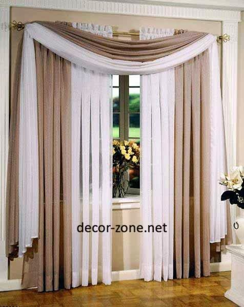 ideas for window curtains for living room - 10 designs