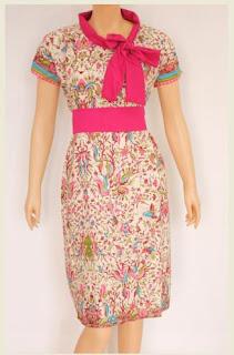 Foto Baju Batik Dress Model Sekarang