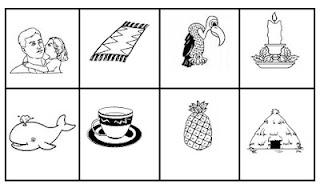 Bingo ilustrado silabas simples
