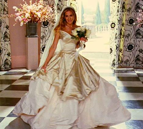 Fashion world sarah jessica parker bold and beautiful for Sarah jessica parker wedding dress
