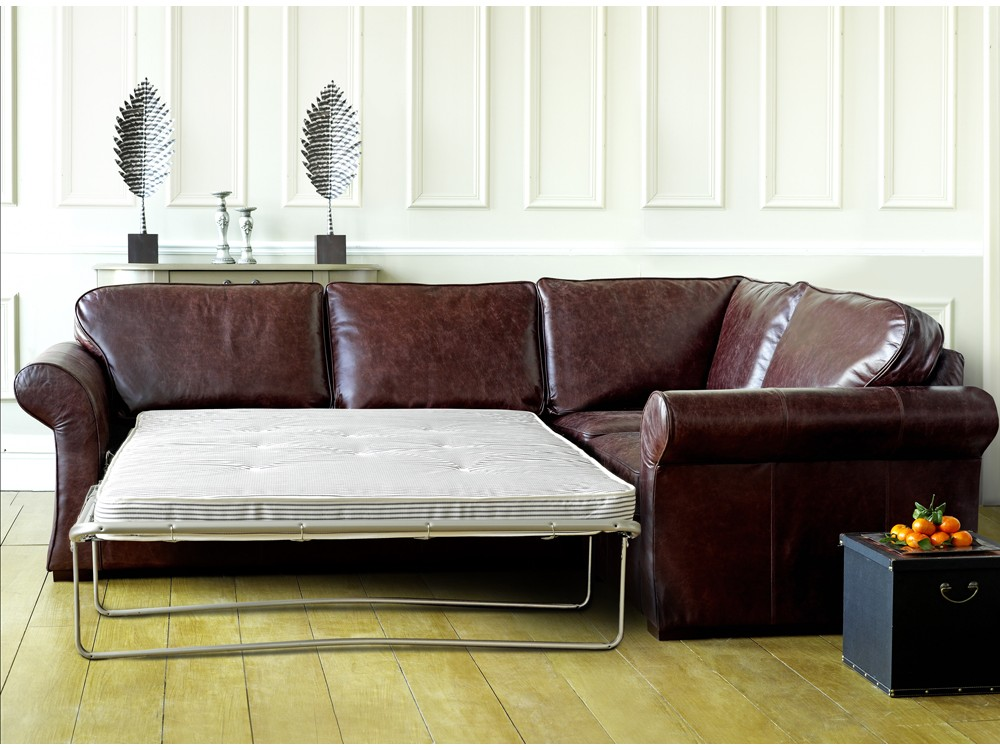Chatsworth Leather Corner Sofa Bed