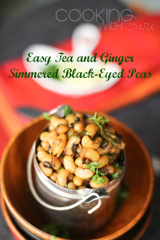 Easy Tea and Ginger Simmered Black-Eyed Peas
