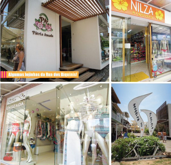 lojas de BIQUINIS - moda praia - Cabo frio RJ - rua dos biquinis
