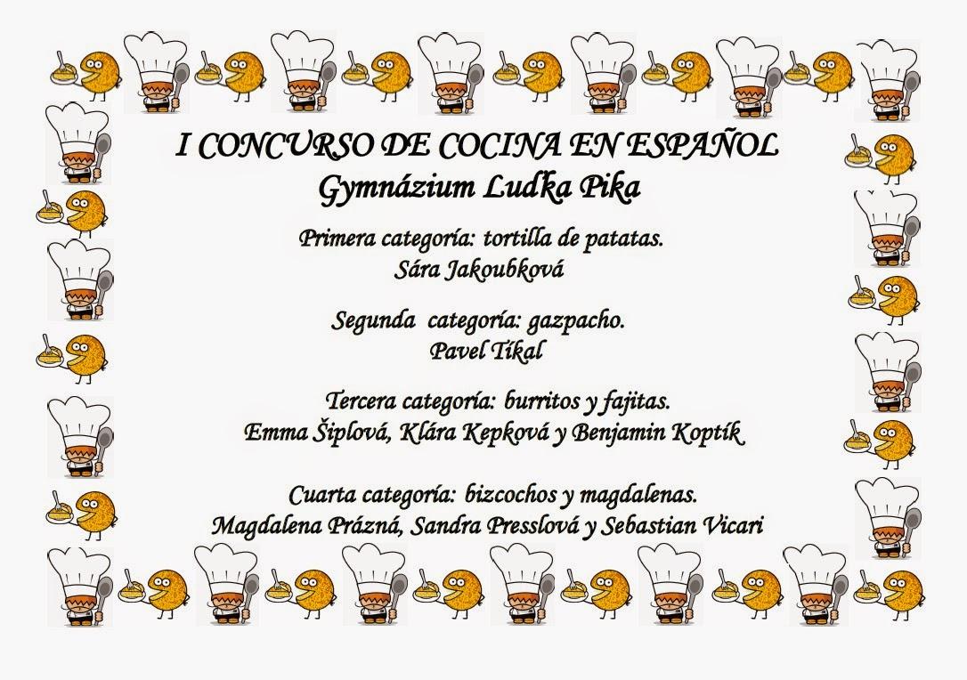Concursos Cocina | Que Lees Comenius Concurso De Cocina En Espanol En El Glp