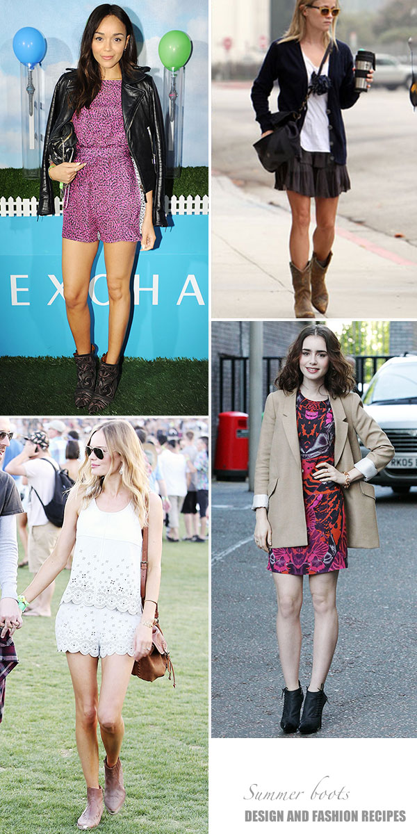 celebs summer boots on Design and fashion recipes