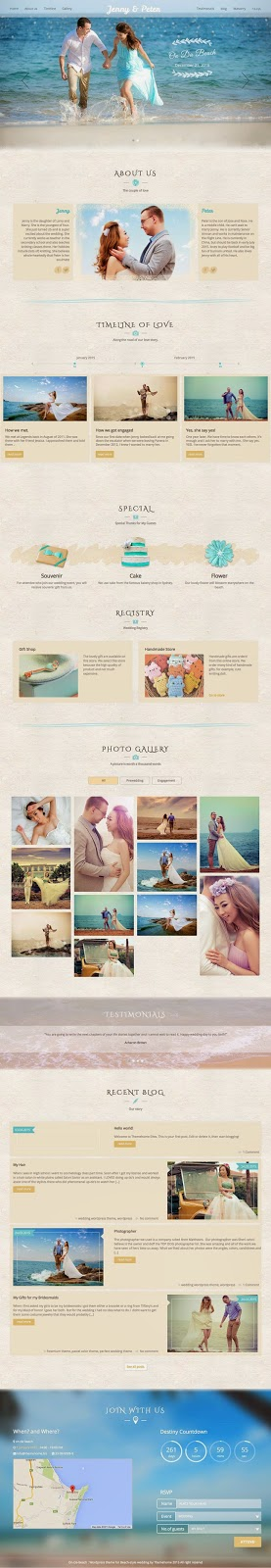 marriage website theme