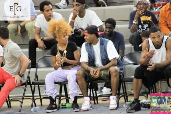 lil mama and david sincere celebrity basketball game