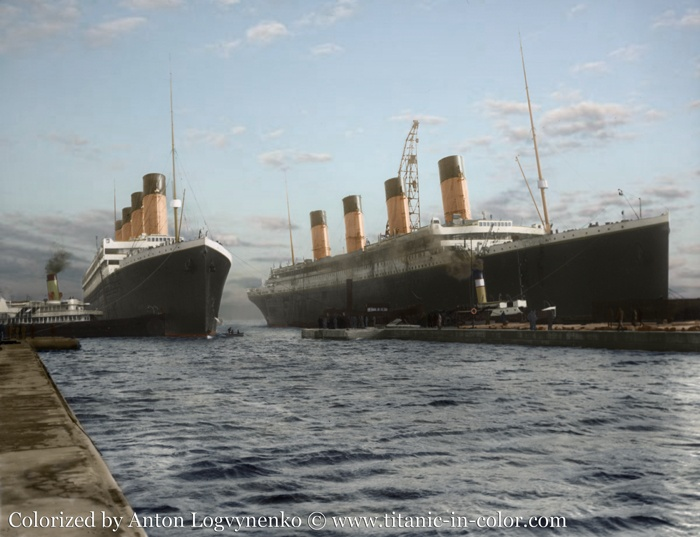The Real Titanic In Color